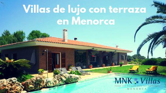 Dos villas de lujo en menorca con terraza el blog de mnk villas - Casas de lujo en menorca ...